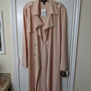 Forever 21 Nude Casual Trench Jacket/2X